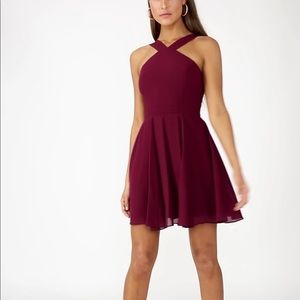 Lulu's Forevermore Maroon Bridemaids Dress NWT
